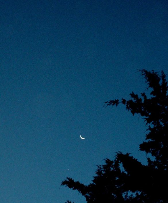Crescent Moon and Venus 8-2012