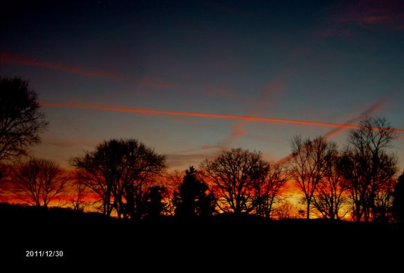Sunset before new years eve 2011 - Copyright Kathleen Gresham Everett