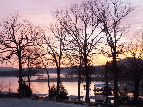 Feb morning - lavender skies