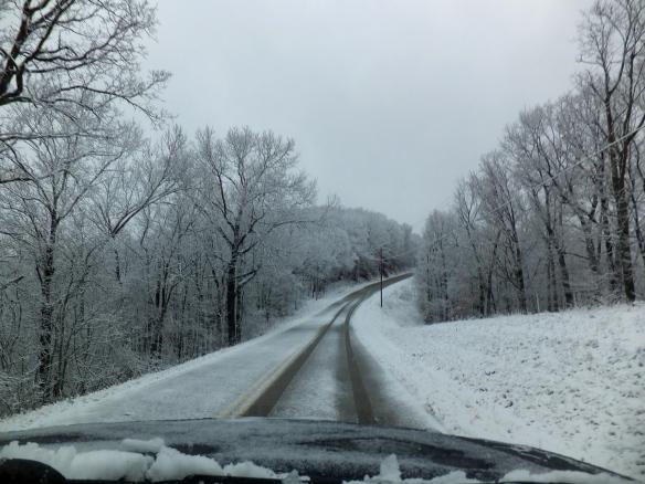 Feb morning snow on the ridge