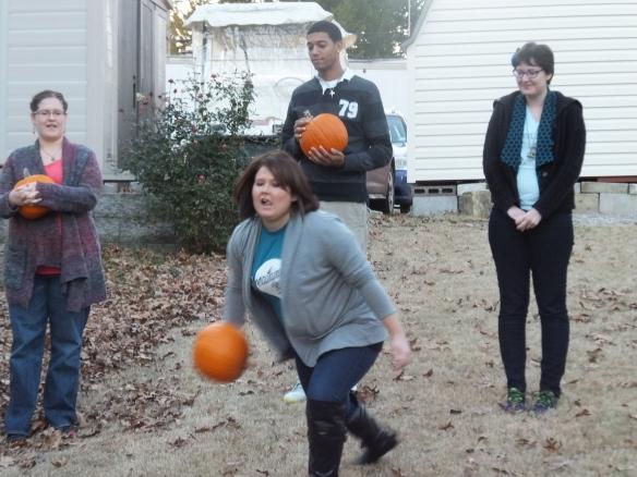 2014 Annual Pumpkin Roll - Firing away