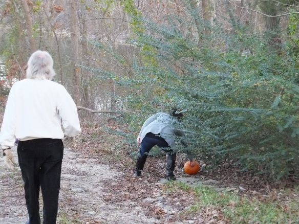 2014 Annual Pumpkin Roll - Uncle Bob as ref- its in bounds!
